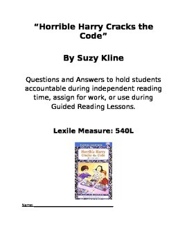 Horrible Harry Crack the Code Chapter Book Questions and Answers