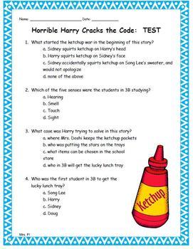 Horrible Harry Cracks the Code Novel Unit