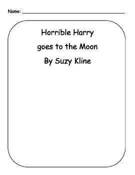 Horrible Harry Goes To The Moon Reading Packet