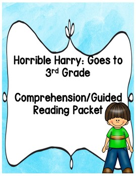 Horrible Harry Goes to 3rd Grade Packet