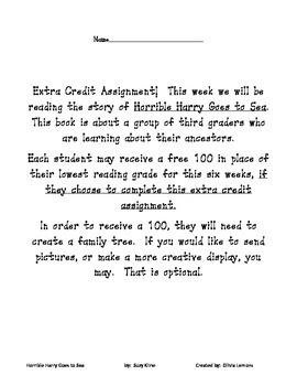 Horrible Harry Goes to Sea Novel Unit