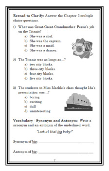 Horrible Harry Goes to Sea (Suzy Kline) Novel Study / Comprehension  (22 pages)