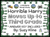 Horrible Harry Moves up to Third Grade (Suzy Kline) Novel Study / Comprehension