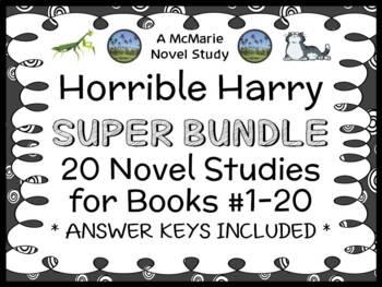 Horrible Harry SUPER BUNDLE (Suzy Kline) 20 Novel Studies: Books #1-20 (392 pgs)