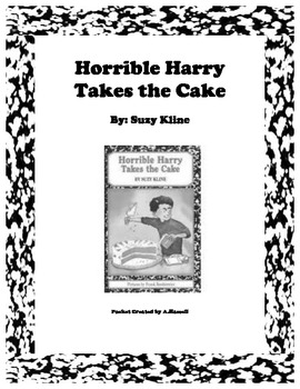 Horrible Harry Takes the Cake Reading Packet