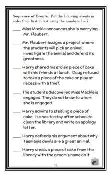 Horrible Harry Takes the Cake (Suzy Kline) Novel Study / Comprehension  (20 pgs)
