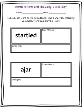 Horrible Harry and The Goog: Guided Reading Packet