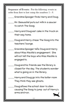 Horrible Harry and The Goog (Suzy Kline) Novel Study / Comprehension  (21 pages)