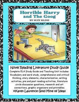 Horrible Harry and The Goog by Suzy Kline ELA Reading Literature Study Guide
