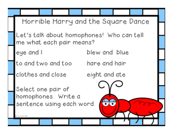 Horrible Harry and the Ant Invasion - Reading Comprehension - No Copies/No Prep!