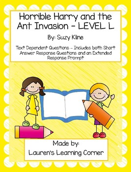 Horrible Harry and the Ant Invasion - Text Dependent Questions