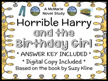 Horrible Harry and the Birthday Girl (Suzy Kline) Novel Study / Comprehension
