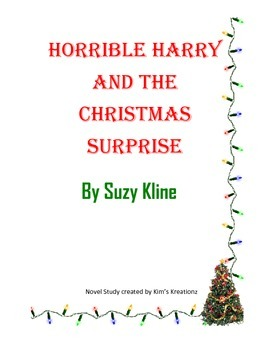Horrible Harry and the Christmas Surprise Novel Study