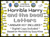 Horrible Harry and the Dead Letters (Suzy Kline) Novel Study  (28 pages)