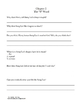 Horrible Harry and the Dragon War comprehension packet
