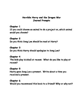 Horrible Harry and the Dragon War comprehension questions
