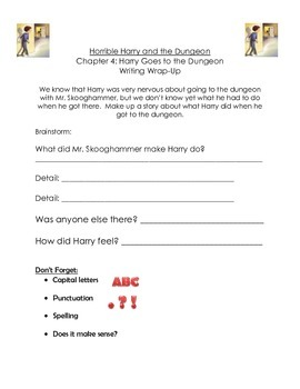Horrible Harry and the Dungeon Guided Reading Packet