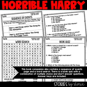 Horrible Harry and the Goog - Comprehension Questions