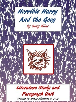 Horrible Harry and the Goog Visualization and Writing Paragraphs Unit