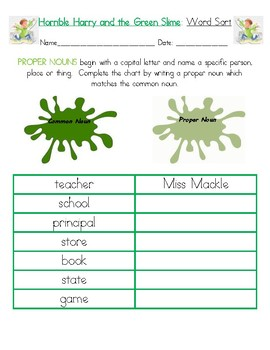 Horrible Harry and the Green Slime Guided Reading Packet