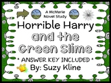 Horrible Harry and the Green Slime (Suzy Kline) Novel Study / Comprehension