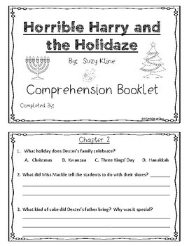 Horrible Harry and the Holidaze Activity Guide