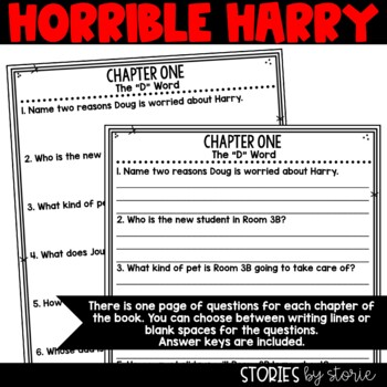 Horrible Harry and the Holidaze - Comprehension Questions