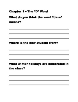 Horrible Harry and the Holidaze Reading Comprehension Questions