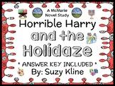Horrible Harry and the Holidaze (Suzy Kline) Novel Study / Reading Comprehension