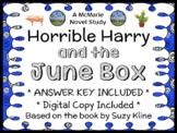 Horrible Harry and the June Box (Suzy Kline) Novel Study / Comprehension