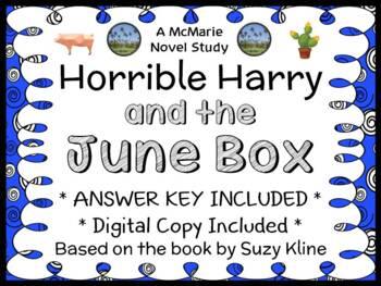 Horrible Harry and the June Box (Suzy Kline) Novel Study /
