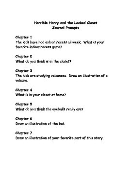 Horrible Harry and the Locked Closet comprehension questions