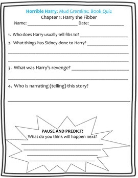 Horrible Harry and the Mud Gremlins Guided Reading Packet