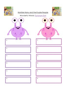 Horrible Harry and the Purple People Guided Reading Packet