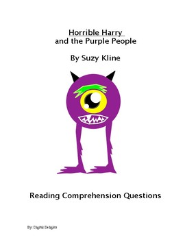 Horrible Harry and the Purple People Reading Comprehension Questions