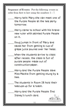 Horrible Harry and the Purple People (Suzy Kline) Novel Study / Comprehension