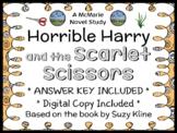 Horrible Harry and the Scarlet Scissors (Suzy Kline) Novel Study / Comprehension