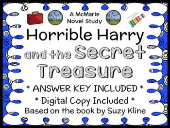 Horrible Harry and the Secret Treasure (Suzy Kline) Novel Study / Comprehension