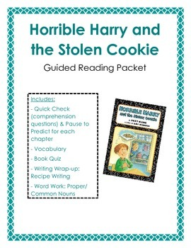 Horrible Harry and the Stolen Cookie: Guided Reading Packet