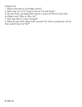 Horrible Harry and the Triple Revenge- Comprehension Questions Chapters 1-6