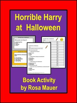 Horrible Harry at Halloween Literacy Activity