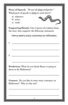 Horrible Harry at Halloween (Suzy Kline) Novel Study / Reading Comprehension