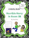 Horrible Harry in Room 2B Novel Study