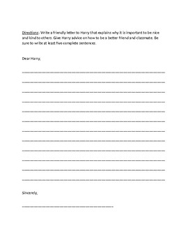Horrible Harry in Room 2B Questions, Vocabulary, and Activity Sheets