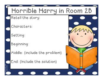 Horrible Harry in Room 2B - Reading Comprehension - No Copies - No Prep!