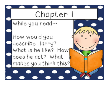 Horrible Harry in Room 2B - Reading Comprehension - No Copies - No Prep!