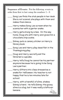 Horrible Harry in Room 2B (Suzy Kline) Novel Study / Comprehension   (19 pages)