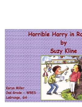 Horrible Harry in Room 2B Vocabulary Promethean Flipchart Activotes