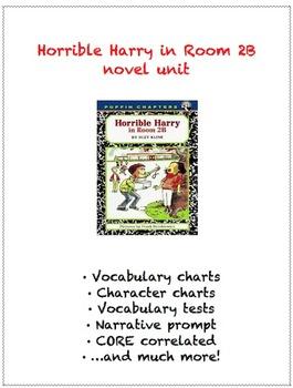 Horrible Harry in Room 2B novel unit