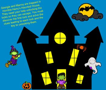 Horrible Harry's Haunted House Digital Math Breakout (Integers)